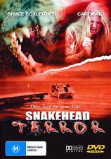 Bruce Boxleitner Carol Alt SNAKEHEAD TERROR - MONSTROUS SNAKES HORROR DVD