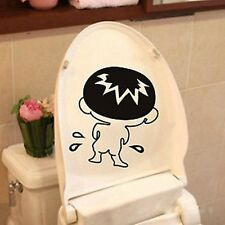 CUTE REMOVABLE WALL STICKERS DECAL BOY KIDS FUNNY BATHROOM TOILET SEAT DECOR