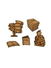 16x Books School Reading Exams 5cm Wood Craft Embelishments Laser Cut Shape MDF