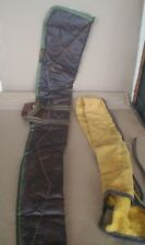 Vintage Leather Rifle Case Cloth Lining with Cloth Sleeve