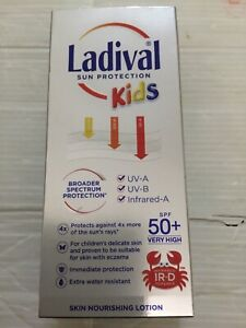 LADIVAL KIDS SUN NOURISHING LOTION INFRARED-A  SPF 50+ 200ML Original BRAND NEW