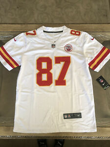 Travis Kelce NEW Jersey NFL White Mens Large