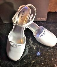 Kenneth Cole White Leather Dress Shoes  NEW  2 inch heels  Youth- Girls Size 6