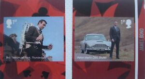 2020 Two James Bond 1st class self-adhesive commemorative stamps ex. booklet