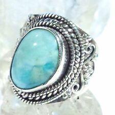 LARIMAR ATLANTIS 3 Ring ECHT 925 Silber Blue Unique Unikat