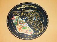 "VINTAGE 11"" ACROSS WALT DISNEY WORLD FLORIDA SOUVENIR METAL SERVING TRAY"