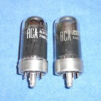 2 NOS RCA 50A5 Radio Vacuum Tubes - 1950's Vintage Beam Power Audio