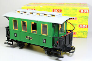 Spur G LGB 3010 grüner Personenwagen 2.Kl. mit Licht und Inneneinrichtung OVP