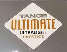 TANGE ULTRALIGHT Prestige Tubing Decal - Chrome / Copper (sku Tang833)