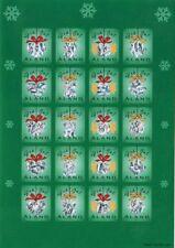 Aland Christmas Hologram Folio Seal Sheet Åland Island Finland Mint MNH 2001