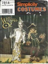 Simplicity 7814 Pattern Child's Wizard of Oz Costumes Tin Man & Scarecrow  3 - 8