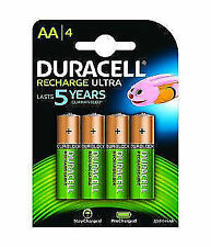 Duracell HR06-P AA 2500mAh 1.2V Rechargeable Batteries - 4-Pack