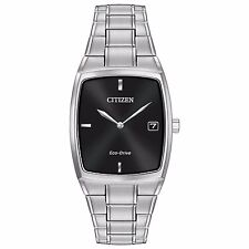 Citizen Eco-Drive Men's AU1070-58E Black Dial Silver-Tone Bracelet 44mm Watch