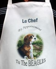 BEAGLE HOUND DOG NEW FUN DESIGN FABRIC APRON KITCHEN SANDRA COEN ARTIST PRINT