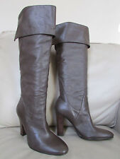 STEVEN/by MADDEN Haydon Brown Leather Knee High/over knee High Heel Boot  7M