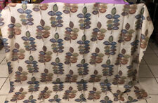 """NWOT-72"""" x 72"""" CROSCILL Mosaic Leaves Shower Curtain In Beige Multicolor"""