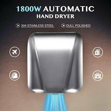 Electric Hand Dryer Machine with Automatic Touchless Tech Stainless Steel 1800W
