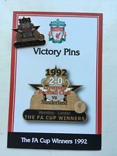 DANBURY MINT LIVERPOOL FC VICTORY PIN BADGE 1992 THE FA CUP WINNERS V SUNDERLAND