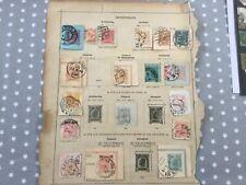 Austria 22 x postcard stamps postal history inc Levant postmarks