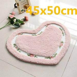Romantic Flower Bathroom Anti-slip Carpet Soft Pad Living Room Floor Toilet Mats