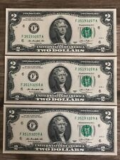 Uncirculated $2 Two Dollar bill note Lucky USD Series 2013 FREE clear case (ATL)