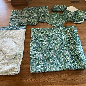 Vtg Laura Ashley Bramble Berry Queen Comforter 8 Pc Set Dust Ruffle Square Pllw