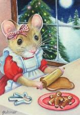 ACEO Limited Edition Print Christmas North Pole Mice Mouse Gingerbread J. Weiner
