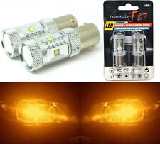 LED Light 30W 1156 Amber Orange Two Bulbs Rear Turn Signal Replace Upgrade Lamp