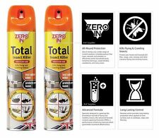 More details for stv zero in total insect ants wasp flies mosquito killer spray (pack of 2)