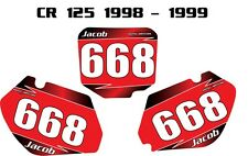 Honda CR 125 1998- 1999 Custom number plate stickers / graphics / decals