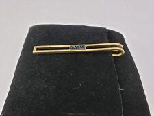 Vintage Tiffany & Co 14kt Gold 3 Blue Sapphire Tie Clip