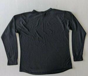 Lightweight L.L.Bean PowerDry Base Layer Shirt Black Size XL Regular USA