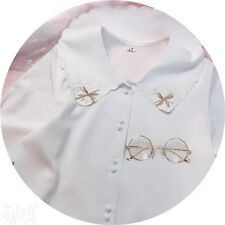 Japanese Kawaii Sweet Mori Girl Loose Doll Collar Long Sleeve Blouses Tops #11