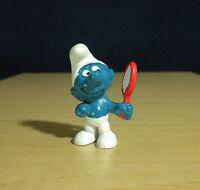 Smurfs 20017 Vanity Smurf Mirror Rare Vintage Figure PVC Toy Figurine 1972 Peyo