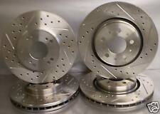 02-08 Dodge Ram 1500 Drilled Slotted Brake Rotors Rear