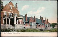 BRADFORD PA City Hospital Antique Town View Postcard Early Old Vtg Pennsylvania