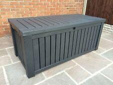Keter Rockwood Anthracite Plastic Garden Storage Deck Box 570 Ltr Capacity XL
