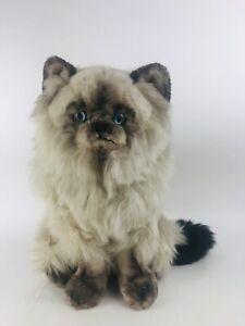 "Vintage Avanti Applause Plush Grey Himalayan  Fat Cat Tag Jockline 14"" Lifelike"