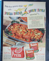 Lot Of 4 Vintage Magazine Ads - canned meat, Swifts, Armour, Spam circa 40s-50s