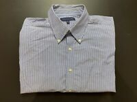 Tommy Hilfiger Mens Shirt Size M Button Up Long Sleeve 15 1/2 32-33 Striped