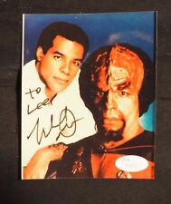 Michael Dorn Star Trek Klingon Worf SIGNED 4x5 Photo With Orlando FL Program