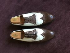 Peal & Co Shoe Dark Walnut Saddle Shoe Brooks Brothers w/ Shoe Trees Very Good