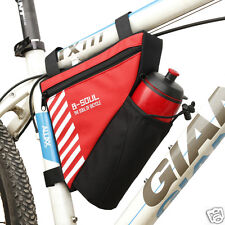 Bike Bicycle Waterproof Tube Front Triangle Saddle Bag Pouch Pannier For Phone
