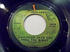 John Lennon Whatever Gets You Through The Night / Beef Jerky 45 Vinyl Record