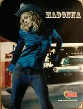 Music Poster Promo Madonna Cowgirl in Denim ~ Tower Records 2000 18 X 14