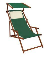 Lit Soleil Vert Chaise Longue Transat pour Jardin Bois Meubles de 10-304 S Kh