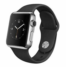 Reloj de Apple serie 2 42mm-Caja de Acero Inoxidable Con Banda Negra Sport