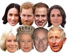 Royal Wedding 2018 Face Masks - Royal Family 8 Pack including Harry & Meghan