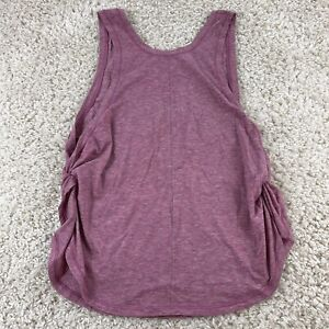 lululemon womens small (6) sleeveless deep v-neck athletic tank top mauve pink