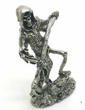 New Grim Reaper with Sickle Pewter Figurine 2 1/2 Inches Tall = Lead Free